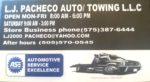 L J Pacheco Auto/Towing Diesel Engine Repair